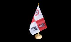 Tischflagge Großbritannien Leicestershire - 15 x 22 cm