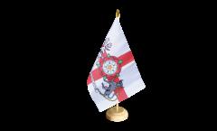 Tischflagge Großbritannien Northamptonshire - 15 x 22 cm