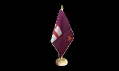 Tischflagge Großbritannien Orange Order Purple Standard - 15 x 22 cm