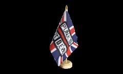 Tischflagge Großbritannien Punks Not Dead - 15 x 22 cm