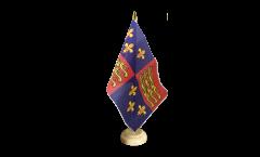Tischflagge Großbritannien Royal Banner 1485-1547 Heinrich VII. und Heinrich VIII. - 15 x 22 cm