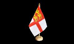 Tischflagge Großbritannien Sark - 15 x 22 cm