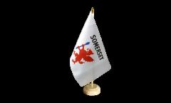 Tischflagge Großbritannien Somerset - 15 x 22 cm