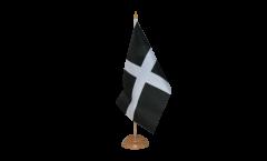 Tischflagge Großbritannien St. Piran Cornwall - 15 x 22 cm