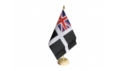Tischflagge Großbritannien St. Piran Cornwall Ensign - 15 x 22 cm