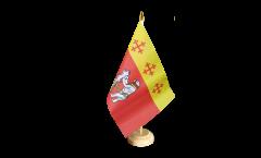 Tischflagge Großbritannien Warwickshire - 15 x 22 cm