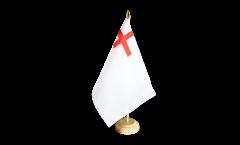 Tischflagge Großbritannien White Ensign 1630-1702 - 15 x 22 cm