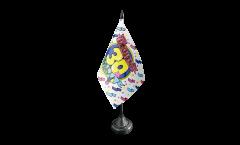 Tischflagge Happy Birthday 30 - 10 x 15 cm