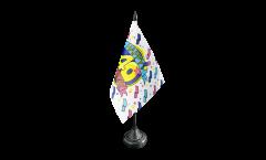 Tischflagge Happy Birthday 40 - 10 x 15 cm