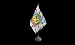 Tischflagge Happy Birthday 60 - 10 x 15 cm