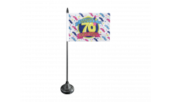 Tischflagge Happy Birthday - 15 x 22 cm