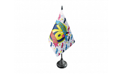 Tischflagge Happy Birthday 70 - 10 x 15 cm