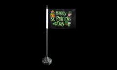 Tischflagge Happy St. Patrick's Day - 15 x 22 cm