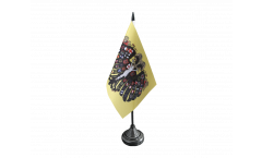 Tischflagge Heiliges Römisches Reich Deutscher Nation Quaterionenadler - 10 x 15 cm