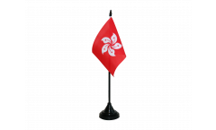 Tischflagge Hong Kong - 15 x 22 cm