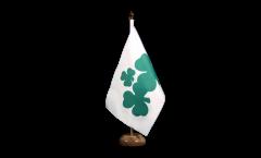 Tischflagge Irland Shamrock - 15 x 22 cm