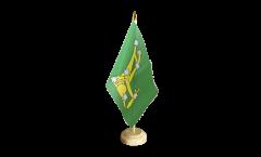 Tischflagge Irland Starry Plough grün 1916-1934 - 15 x 22 cm