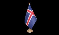 Tischflagge Island - 10 x 15 cm