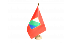 Tischflagge Italien Abruzzen - 15 x 22 cm