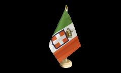 Tischflagge Italien Königreich Armee 1861-1946 - 15 x 22 cm