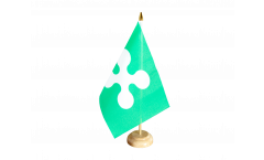Tischflagge Italien Lombardei - 10 x 15 cm