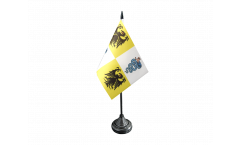 Tischflagge Italien Mailand Herzogtum 1395-1797 - 10 x 15 cm