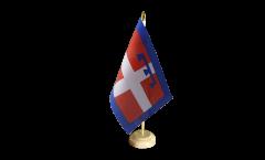 Tischflagge Italien Piemont - 15 x 22 cm