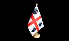 Tischflagge Italien Sardinien - 10 x 15 cm