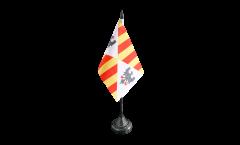 Tischflagge Italien Sizilien Königreich 1130 - 1816 - 10 x 15 cm