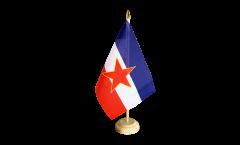 Tischflagge Jugoslawien alt - 15 x 22 cm