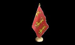 Tischflagge König Richard I. von England 1189 - 15 x 22 cm