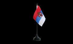 Tischflagge Königreich Serbien 1892-1918 - 10 x 15 cm