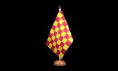 Tischflagge Karo Rot-Gelb - 15 x 22 cm