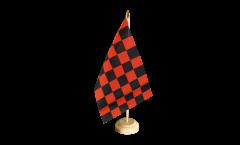 Tischflagge Karo Rot-Schwarz - 15 x 22 cm