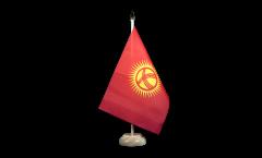Tischflagge Kirgisistan Kirgistan - 15 x 22 cm