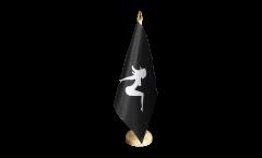 Tischflagge Lady Pin-Up Girl - 15 x 22 cm