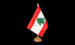 Tischflagge Libanon - 15 x 22 cm