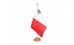 Tischflagge Malta - 15 x 22 cm