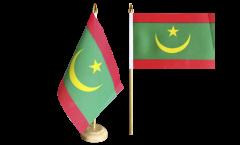 Tischflagge Mauretanien - 15 x 22 cm