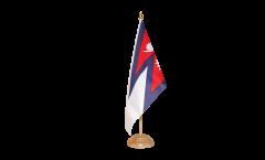 Flaggenfritze/® Tischflagge Turkmenistan 10x15 cm