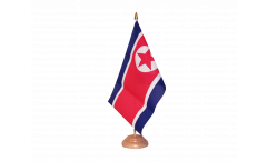 Tischflagge Nordkorea - 15 x 22 cm