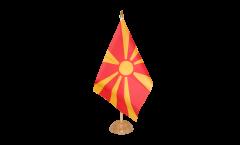 Tischflagge Mazedonien - 15 x 22 cm