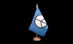 Tischflagge Peace-Symbol - 15 x 22 cm