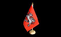 Tischflagge Pendragon neu - 15 x 22 cm