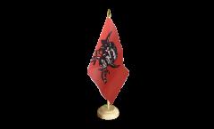 Tischflagge Pirat auf rotem Tuch - 15 x 22 cm