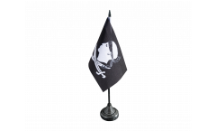 Tischflagge Pirat Korsika - 10 x 15 cm