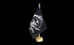 Tischflagge Pirat mit blutigem Säbel - 15 x 22 cm