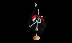 Tischflagge Pirat mit Kopftuch - 15 x 22 cm