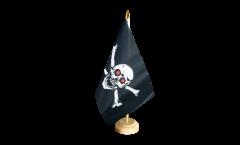 Tischflagge Pirat mit roten Augen - 15 x 22 cm