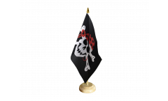 Tischflagge Pirat one eyed Jack - 15 x 22 cm